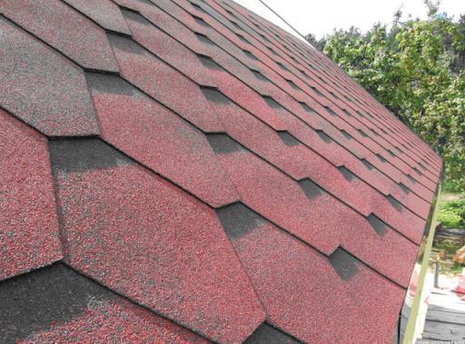 ván phủ nhựa đường được dùng trong làm mái nhà