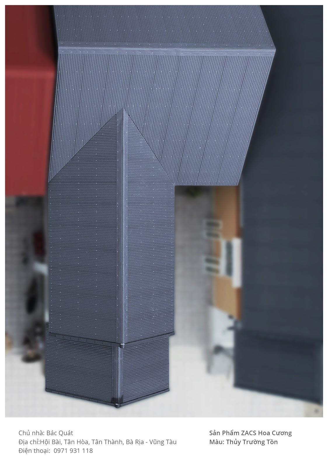 Mẫu nhà lợp mái tôn đẹp hình chữ L