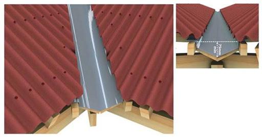 Máng thu nước nằm trong tiêu chuẩn nghiệm thu lợp mái tôn