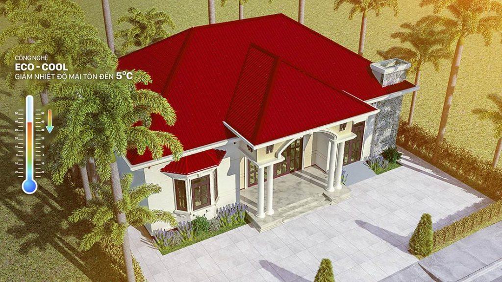 Hệ kèo mái ngôi nhà vững chắc nhờ dùng Thanh Kèo Zacs