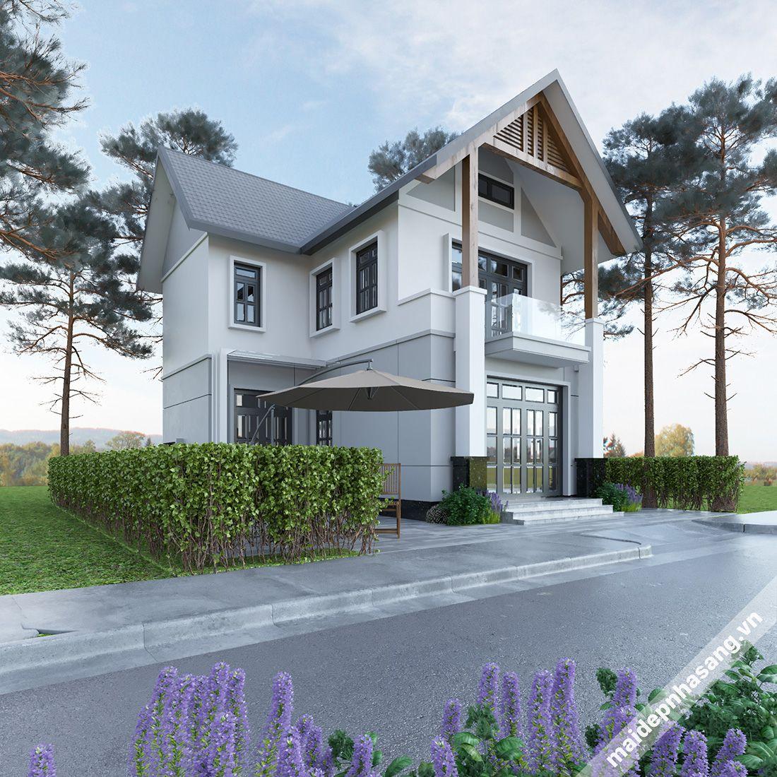 Những mẫu nhà 2 tầng lợp mái tôn đẹp nhất hiện nay! -