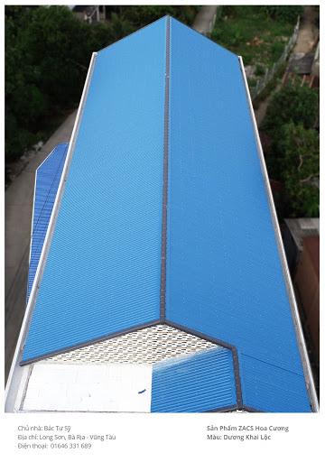 Tôn lạnh màu xanh dương - màu tôn phong thủy cho gia chủ Nhâm Tuất