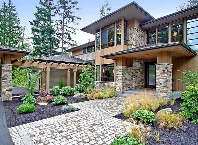 nhà cấp 4 nông thôn có vườn thiết kế đẹp