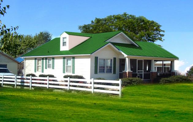 Màu tôn góp phần hoàn thiện vẻ đẹp tổng thể ngôi nhà