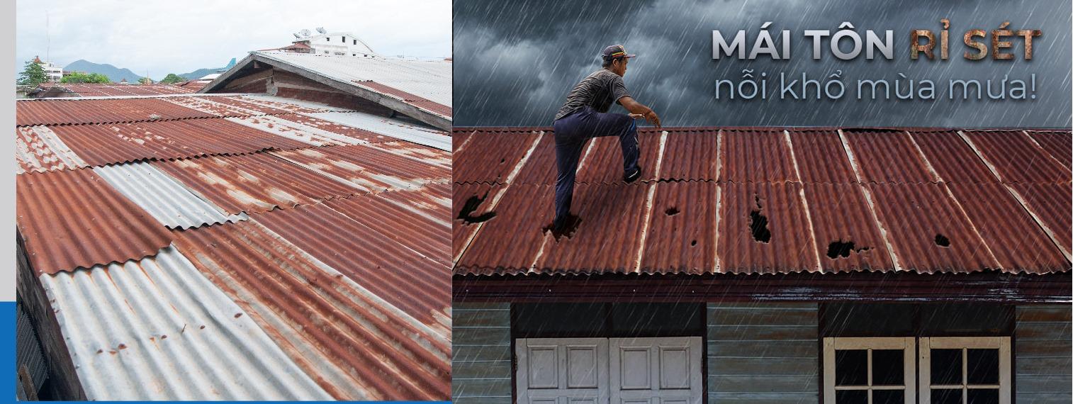 giải pháp chống rỉ sét cho mái tôn