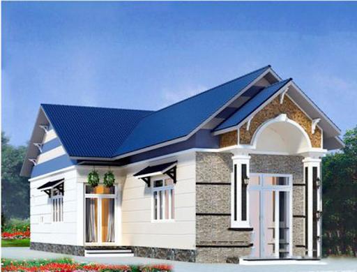Nhà lợp tôn màu xanh dương hợp phong thủy cho gia chủ Bính Tý