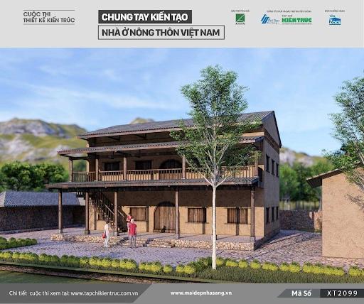 Mẫu nhà sàn tham gia cuộc thi thiết kế nhà ở nông thôn cũng là lựa chọn tuyệt vời