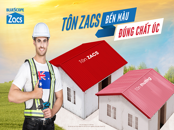 Tôn Bền Màu BlueScope Zacs