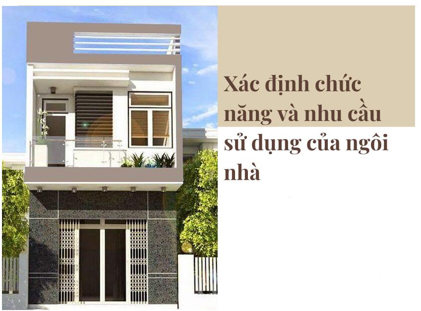 Xác định chức năng và nhu cầu sử dụng của ngôi nhà