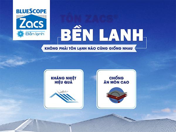 BLUESCOPE ZACS® BỀN LẠNH - Sản phẩm tập đoàn BlueScope