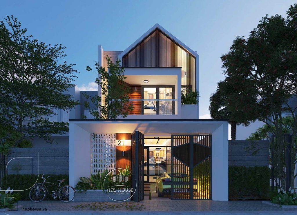 mẫu nhà mái tôn diện tích hẹp