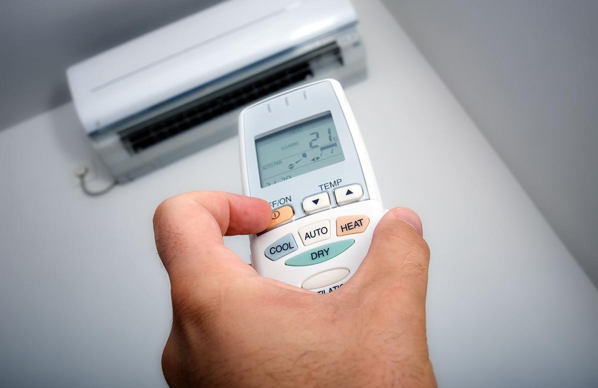 bật điều hòa ở nhiệt độ thấp