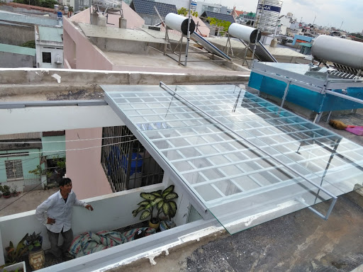 mái nhà bằng kính