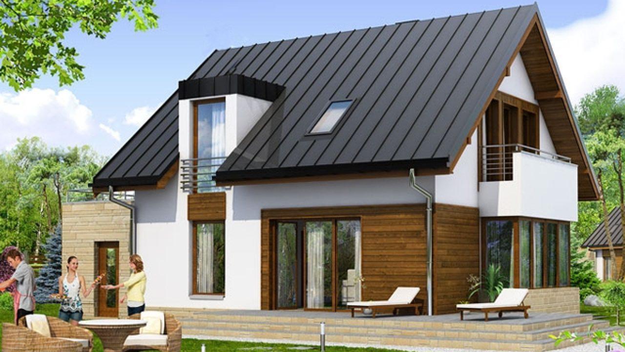 nhà mái tôn đẹp kiểu Âu