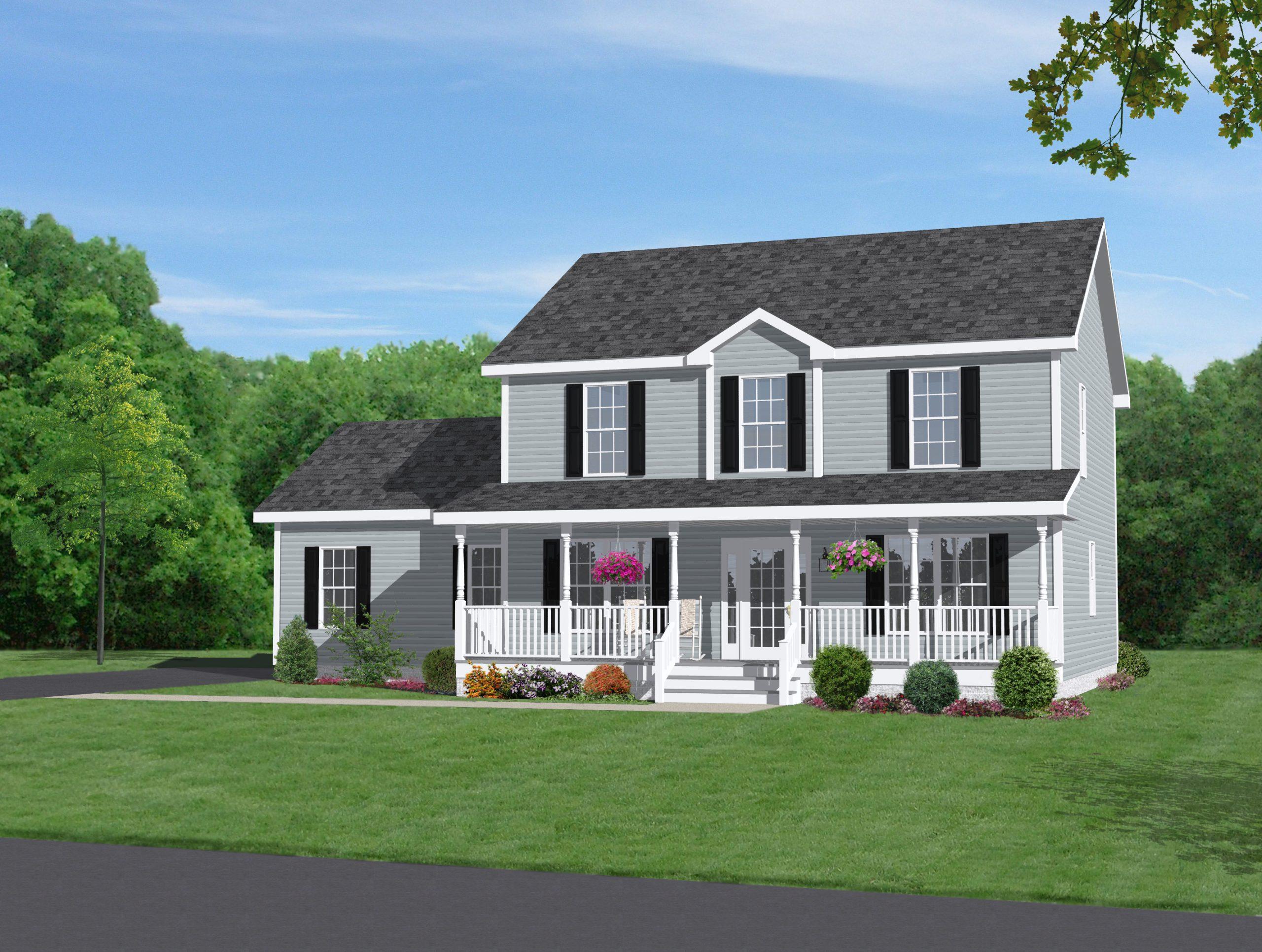 xây nhà 2 tầng nông thôn hiện đại