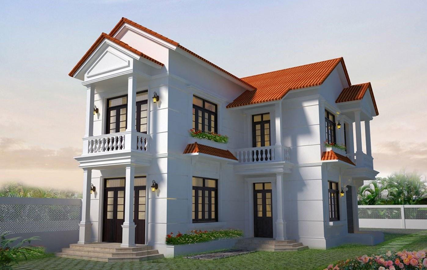 xây nhà 2 tầng nông thôn