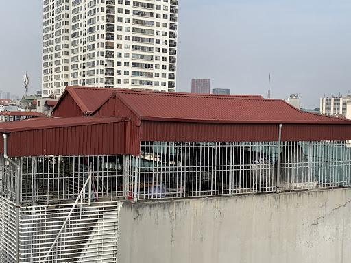 mái tôn sân thượng