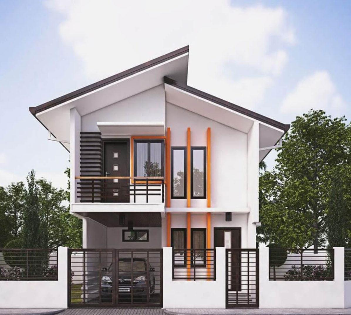 10+ Mẫu nhà biệt thự 2 tầng hình chữ L lợp tôn phong cách hiện đại (Phần 2)