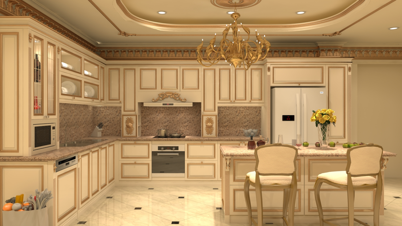 phòng bếp cổ điển