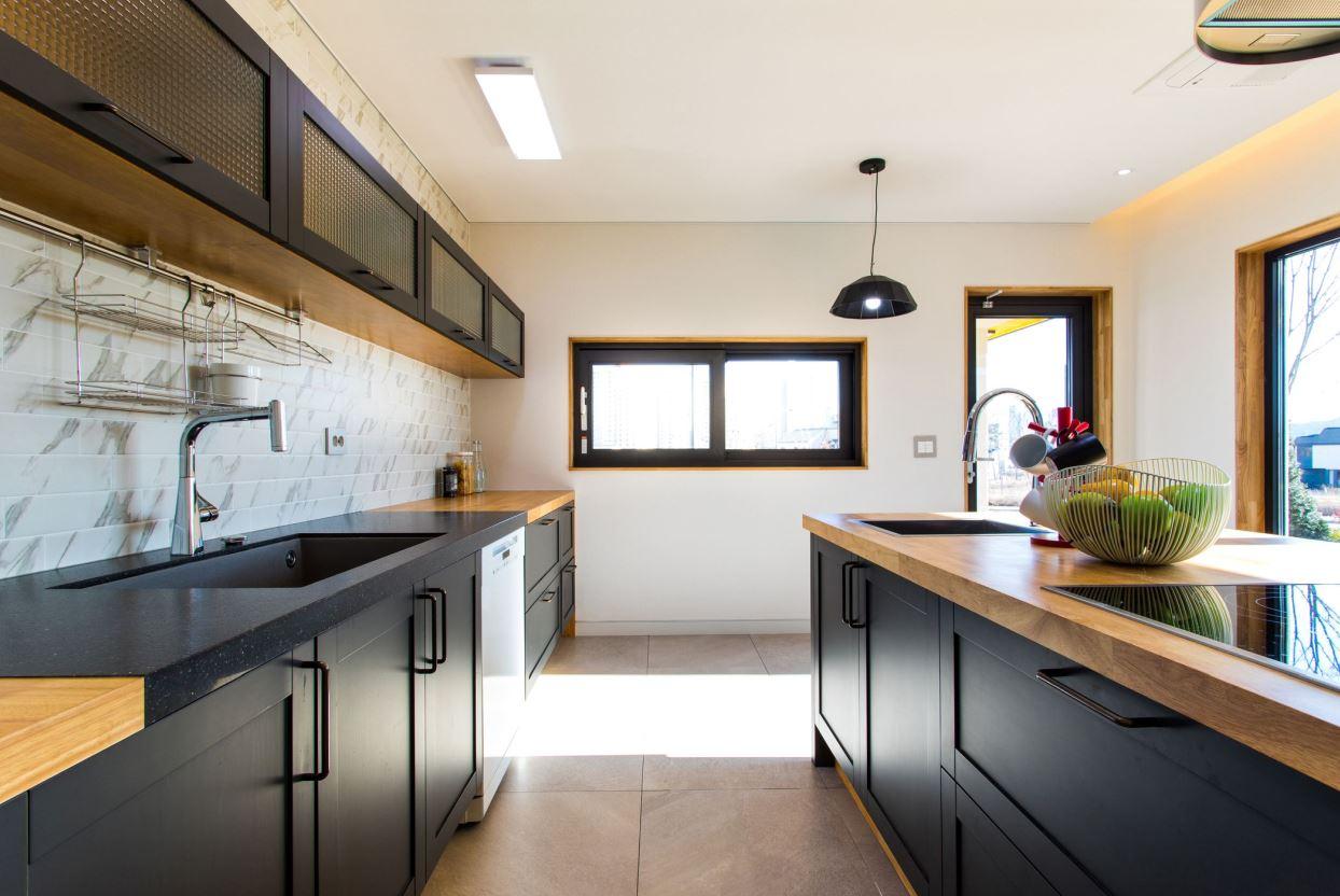 phòng bếp đối xứng