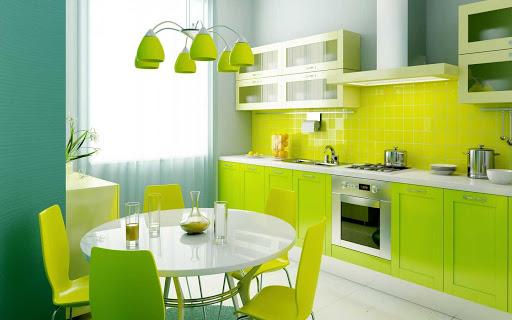 phòng bếp màu neon