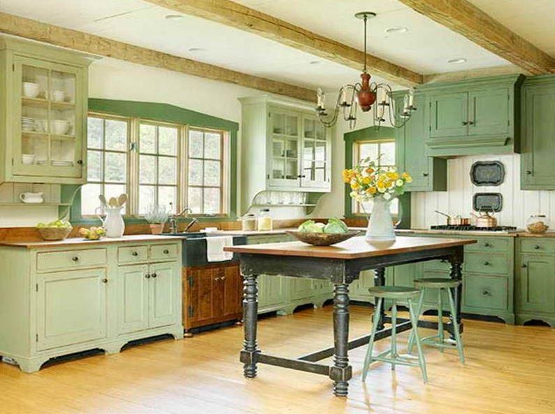 phòng bếp màu retro
