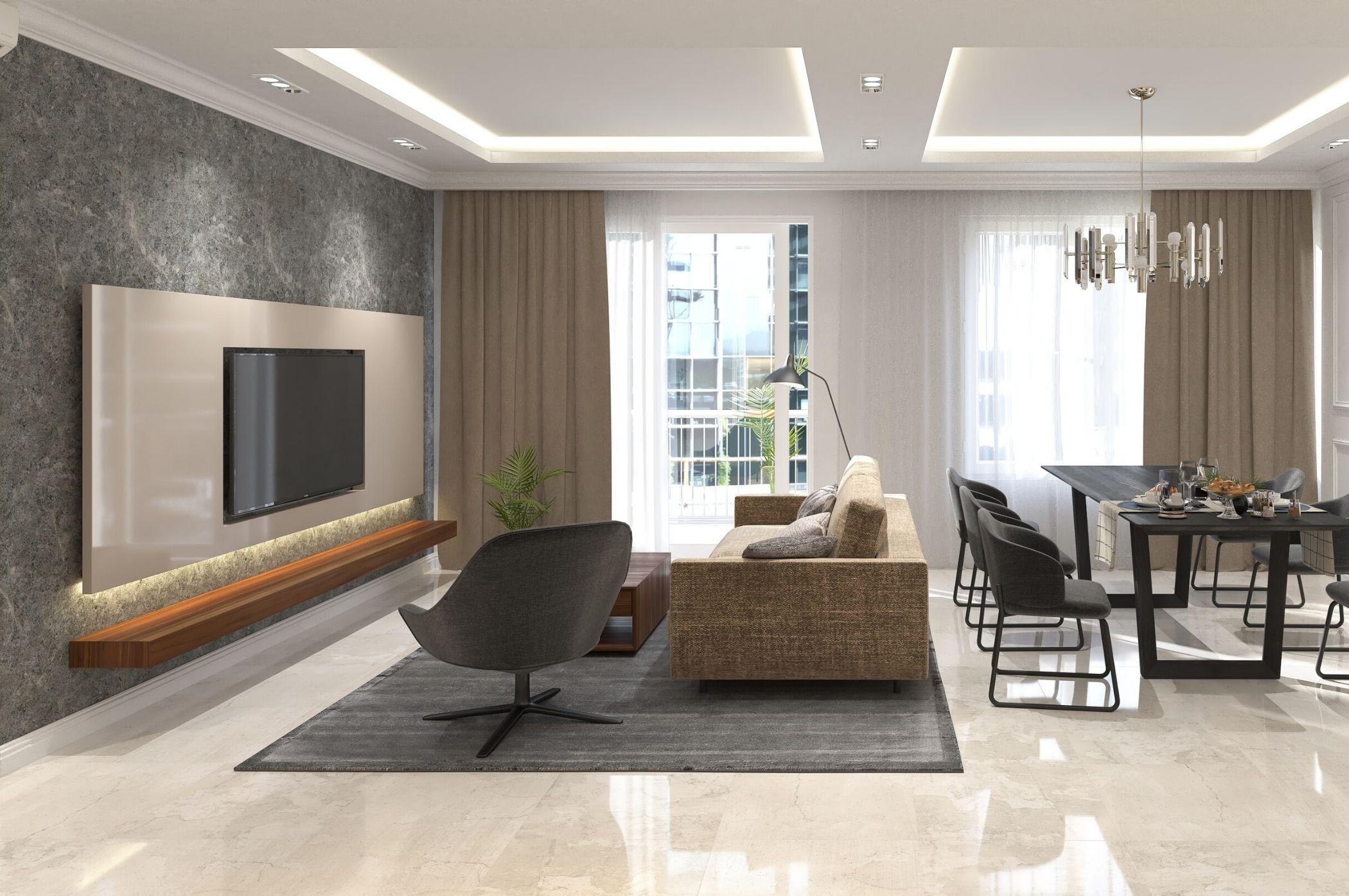 Mẫu thiết kế phòng khách đẹp hiện đại và sang trọng bậc nhất năm 2020
