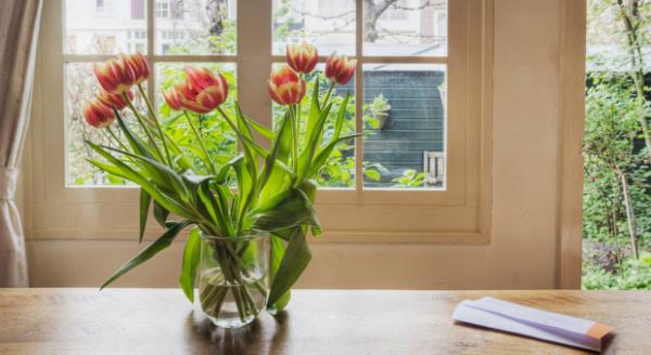 hoa tươi trong nhà